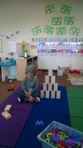 Isaiah with blocks